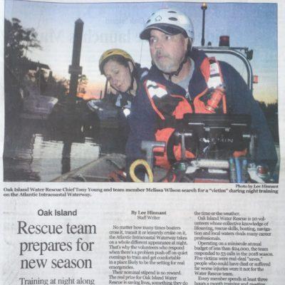 Oak Island Water Rescue Featured in the State Port Pilot